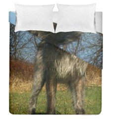 Irish Wolfhound full Duvet Cover Double Side (Queen Size) by TailWags
