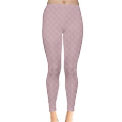 Baby Pink Stitched and Quilted Pattern Leggings  by PodArtist