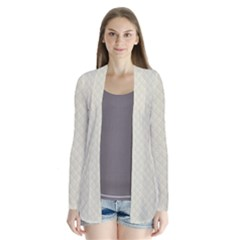 Rich Cream Stitched and Quilted Pattern Cardigans by PodArtist