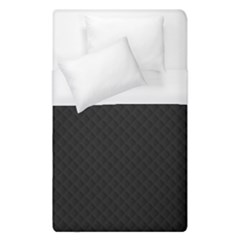 Sleek Black Stitched and Quilted Pattern Duvet Cover (Single Size) by PodArtist