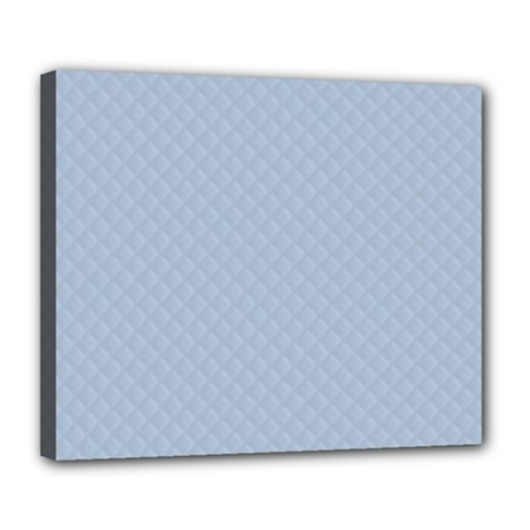 Powder Blue Stitched And Quilted Pattern Deluxe Canvas 24  X 20   by PodArtist