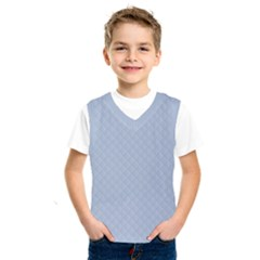 Powder Blue Stitched and Quilted Pattern Kids  SportsWear by PodArtist