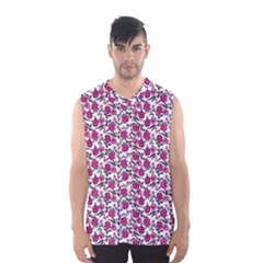 Roses Pattern Men s Basketball Tank Top by Valentinaart