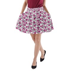 Roses pattern A-Line Pocket Skirt by Valentinaart