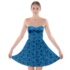 Roses Pattern Strapless Bra Top Dress by Valentinaart