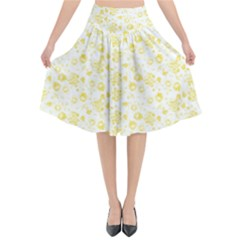 Roses pattern Flared Midi Skirt by Valentinaart