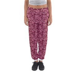 Roses Pattern Women s Jogger Sweatpants by Valentinaart