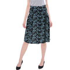 Roses pattern Midi Beach Skirt by Valentinaart
