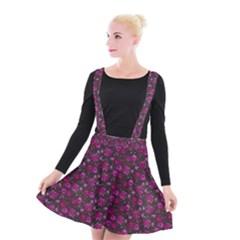 Roses Pattern Suspender Skater Skirt by Valentinaart