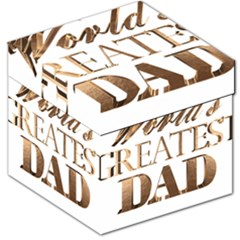 World s Greatest Dad Gold Look Text Elegant Typography Storage Stool 12   by yoursparklingshop