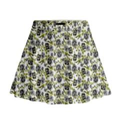 Roses Pattern Mini Flare Skirt by Valentinaart