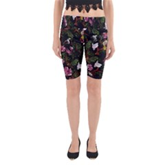 Tropical Pattern Yoga Cropped Leggings by Valentinaart