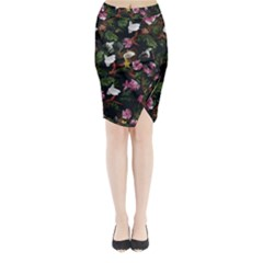 Tropical Pattern Midi Wrap Pencil Skirt by Valentinaart