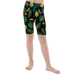 Tropical Pattern Kids  Mid Length Swim Shorts by Valentinaart