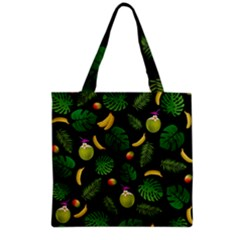 Tropical Pattern Grocery Tote Bag by Valentinaart
