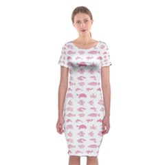 Fish pattern Classic Short Sleeve Midi Dress by ValentinaDesign