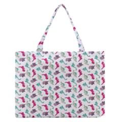 Dinosaurs Pattern Medium Zipper Tote Bag by ValentinaDesign
