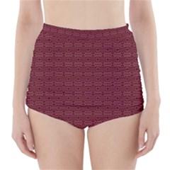 Pattern High-Waisted Bikini Bottoms by ValentinaDesign