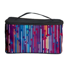 Vertical Behance Line Polka Dot Blue Green Purple Red Blue Black Cosmetic Storage Case by Mariart