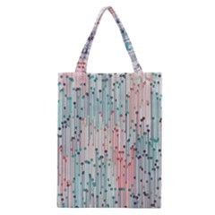 Vertical Behance Line Polka Dot Grey Pink Classic Tote Bag by Mariart