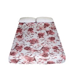 Floral Pattern Fitted Sheet (full/ Double Size) by ValentinaDesign