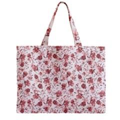 Floral Pattern Zipper Mini Tote Bag by ValentinaDesign
