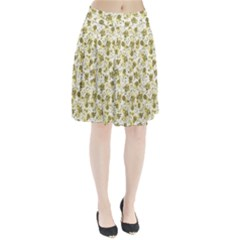 Floral pattern Pleated Skirt by ValentinaDesign
