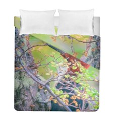 Woodpecker At Forest Pecking Tree, Patagonia, Argentina Duvet Cover Double Side (full/ Double Size) by dflcprints