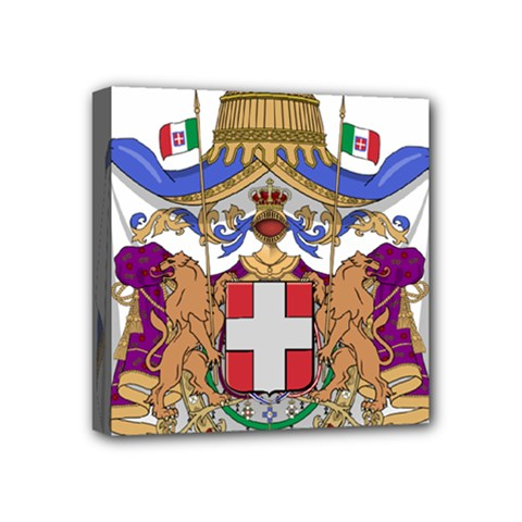 Greater Coat Of Arms Of Italy, 1870 1890  Mini Canvas 4  X 4  by abbeyz71