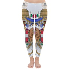 Greater Coat Of Arms Of Italy, 1870 1890  Classic Winter Leggings by abbeyz71
