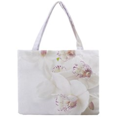 Orchids Flowers White Background Mini Tote Bag by Nexatart