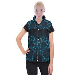 Background Abstract Decorative Women s Button Up Puffer Vest by Nexatart