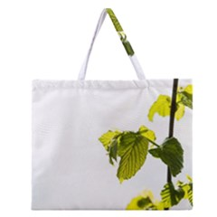 Leaves Nature Zipper Large Tote Bag by Nexatart