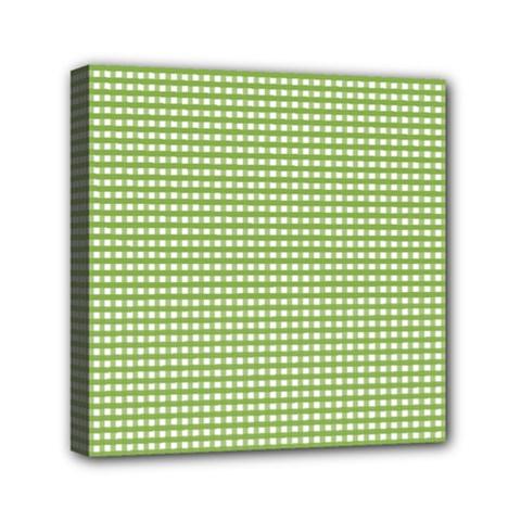 Gingham Check Plaid Fabric Pattern Mini Canvas 6  X 6  by Nexatart