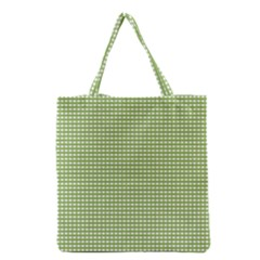 Gingham Check Plaid Fabric Pattern Grocery Tote Bag by Nexatart