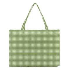 Gingham Check Plaid Fabric Pattern Medium Tote Bag by Nexatart