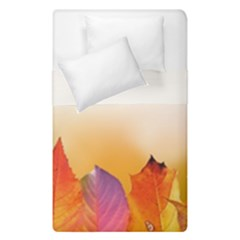Autumn Leaves Colorful Fall Foliage Duvet Cover Double Side (single Size) by Nexatart