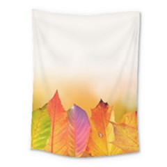 Autumn Leaves Colorful Fall Foliage Medium Tapestry by Nexatart
