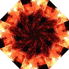 Fire Log Heat Texture Straight Umbrellas by Nexatart