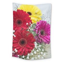 Flowers Gerbera Floral Spring Large Tapestry by Nexatart