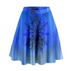 Background Christmas Star High Waist Skirt by Nexatart