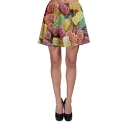 Jelly Beans Candy Sour Sweet Skater Skirt by Nexatart