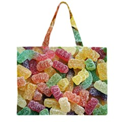 Jelly Beans Candy Sour Sweet Zipper Large Tote Bag by Nexatart