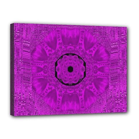 Purple Mandala Fashion Canvas 16  X 12  by pepitasart