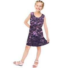 Pink Rainbow Shimmering Mother Of Pearl Kids  Tunic Dress by PodArtist