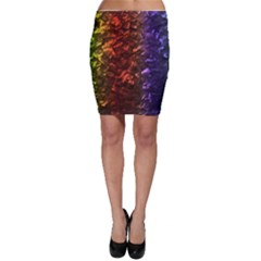 Multi Color Magical Unicorn Rainbow Shimmering Mother Of Pearl Bodycon Skirt by PodArtist