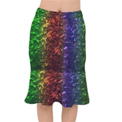 Multi Color Magical Unicorn Rainbow Shimmering Mother Of Pearl Mermaid Skirt by PodArtist