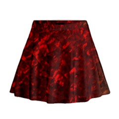 Hawaiian Red Hot Lava Mother Of Pearl Nacre  Mini Flare Skirt by PodArtist