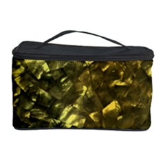 Bright Gold Mother Of Pearl Nacre Pattern Cosmetic Storage Case by PodArtist