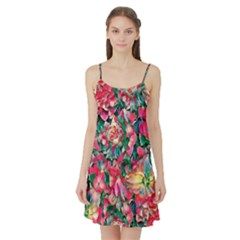Wonderful Floral 24b Satin Night Slip by MoreColorsinLife
